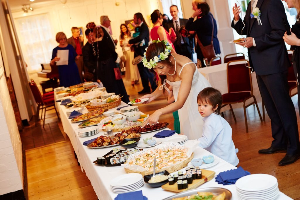 Wedding buffet in the Lower Gallery