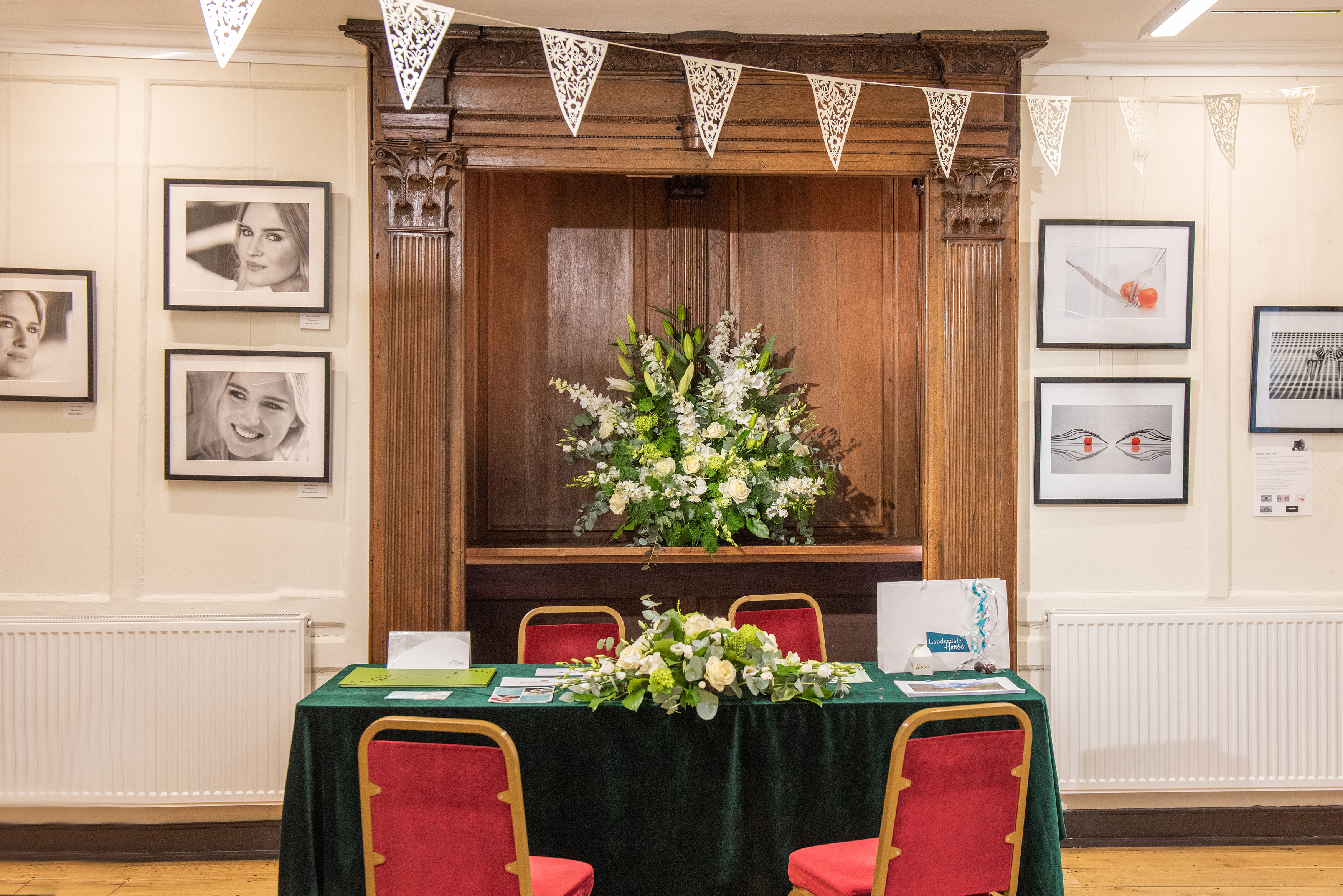 Ceremony set up in Entrance Hall
