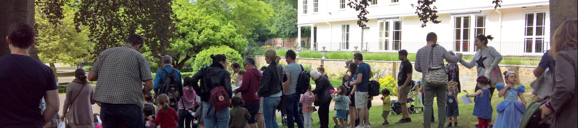 Sally's adventure club outside Lauderdale house