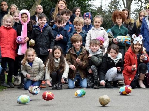 Easter Egg rolling at Lauderdale House